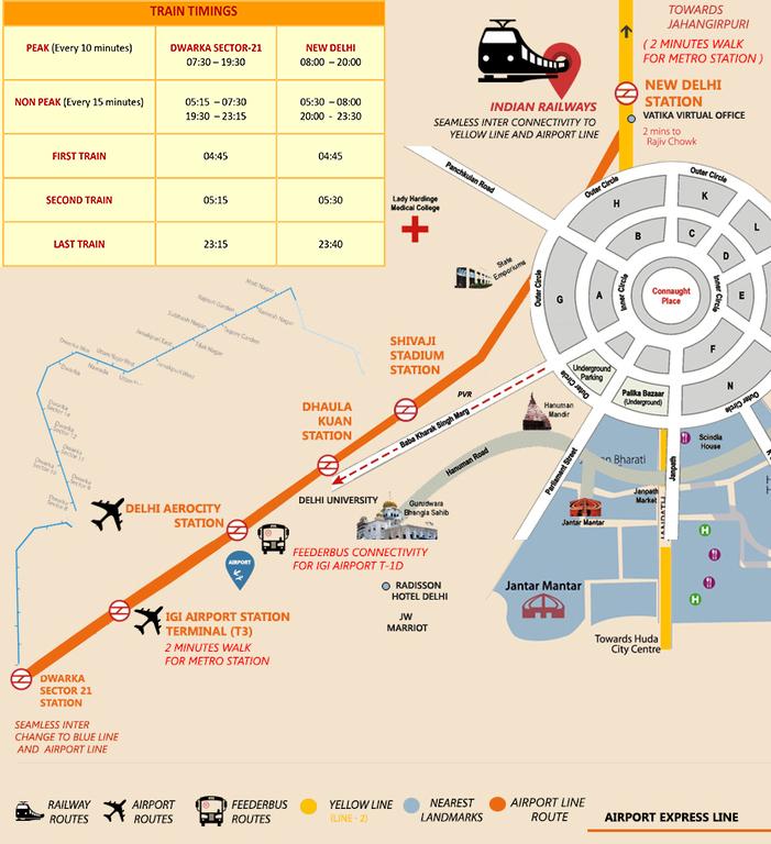 Delhi Metro Express Line Timings