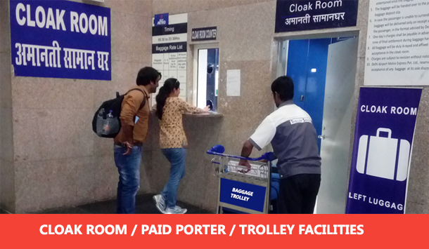 DMRC Airport Line Clockroom Facilities