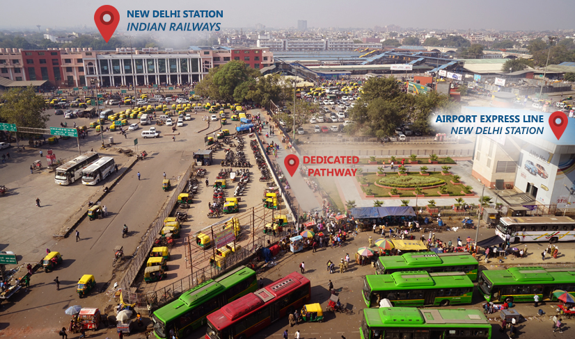 DMRC Airport Line Dedicated Pathway