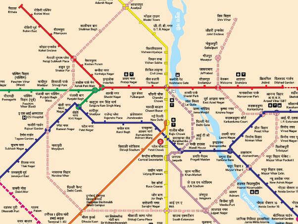 Delhi Metro Map