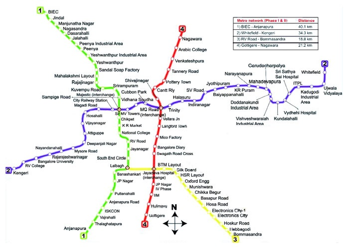 Bangalore Metro Route Map